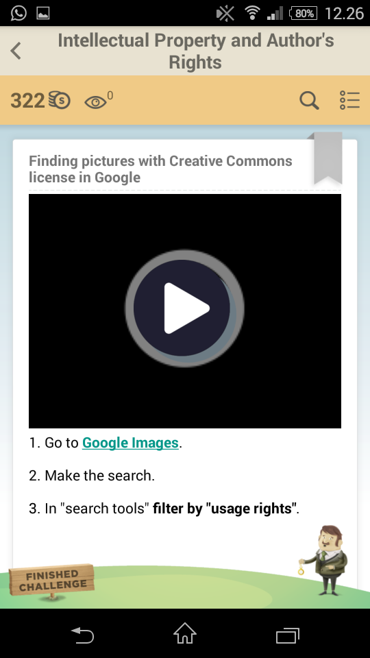 Finding pictures with Creative Commons license in Google