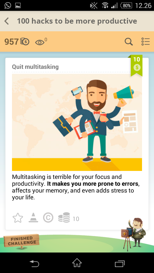 Quit multitasking