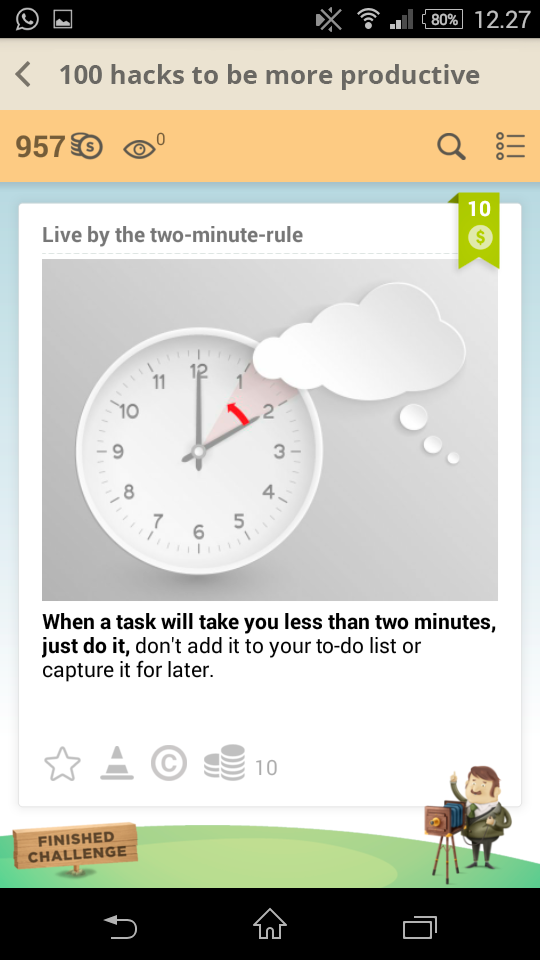 Live by the two-minute-rule