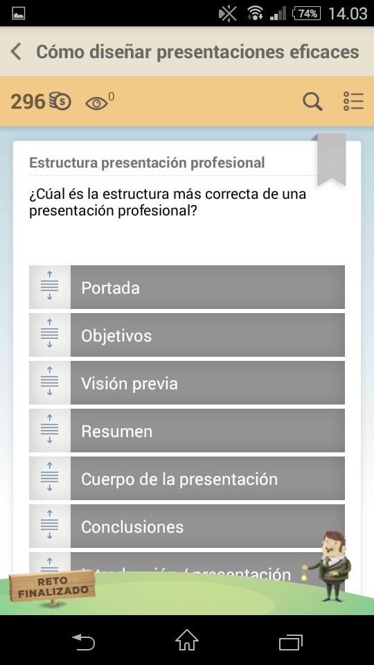 Estructura presentación professional