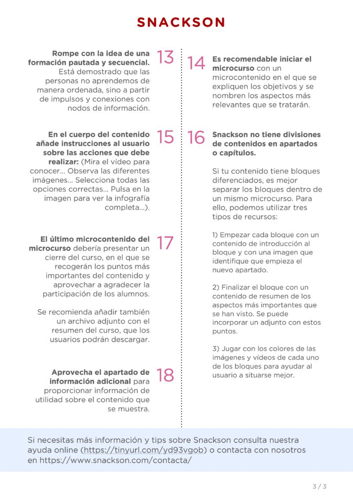 18 consejos que te ayudarán a que tu microcurso