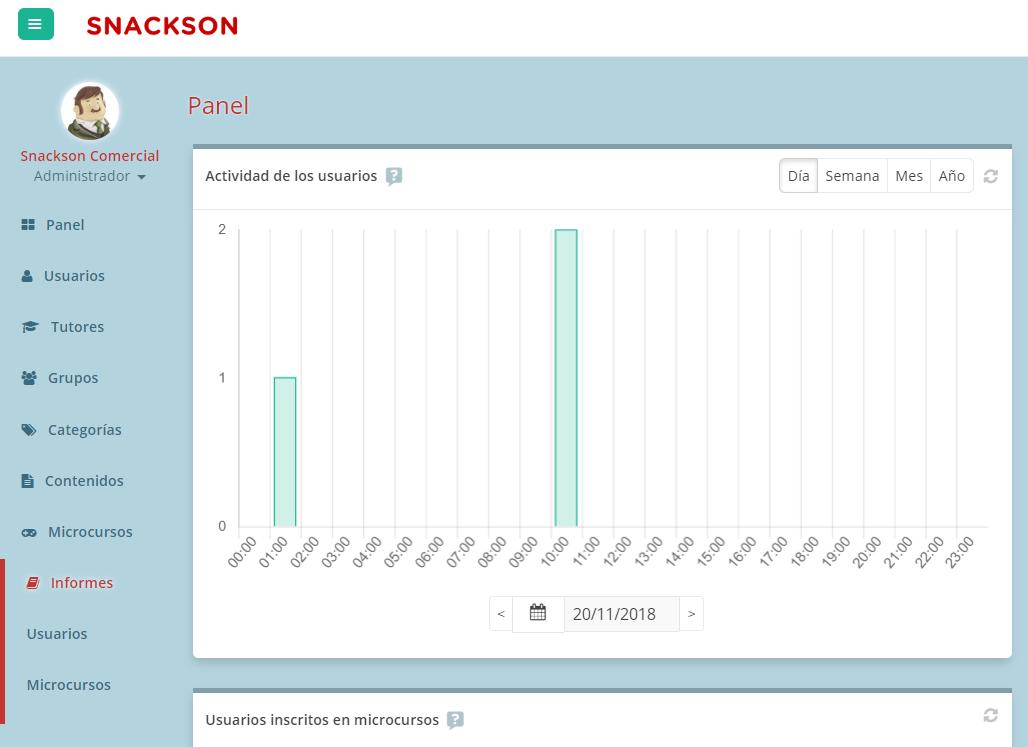 Captura que muestra el acceso a los informes